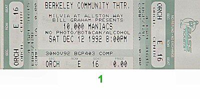 10,000 Maniacs1990s Ticket
