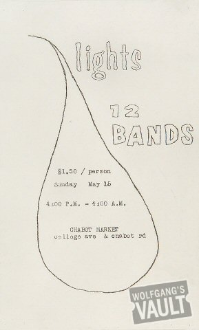 12 Bands at the Chabot Market Handbill