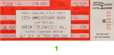 12th Anniversary Mill Valley Film Festival 1980s Ticket