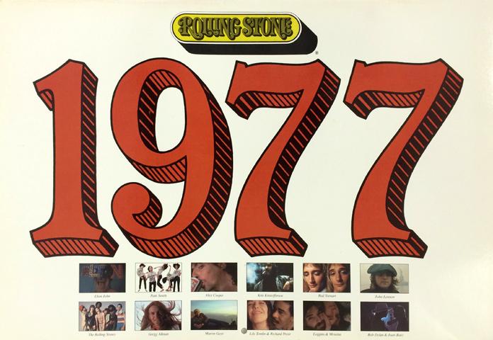1977 Rolling Stone Wall Calendar