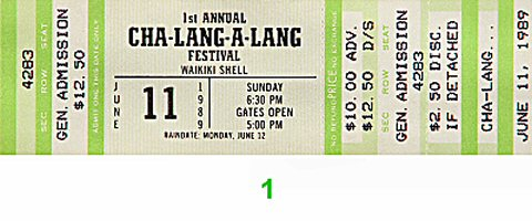 1st Annual Cha-Lang-A-Lang Festival 1980s Ticket