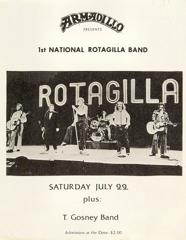 1st National Rotagilla Band Handbill