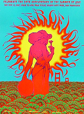 20th Anniversary of the Summer of Love Poster