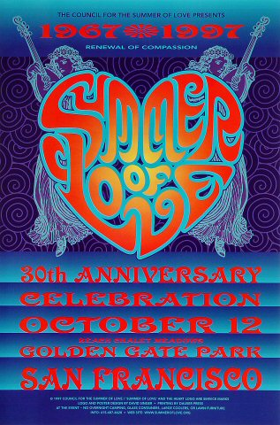 30th Anniversary Celebration of the Summer of LovePoster