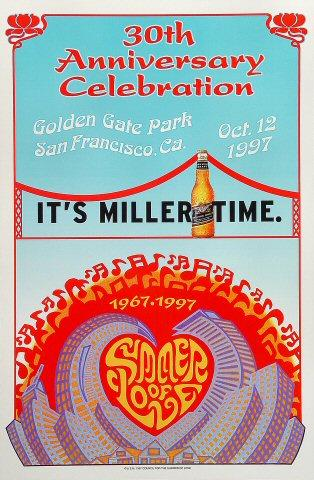 30th Anniversary Celebration of the Summer of Love Poster