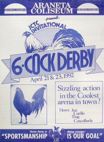 6-Cock Derby Poster