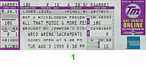 98 Degrees Vintage Ticket