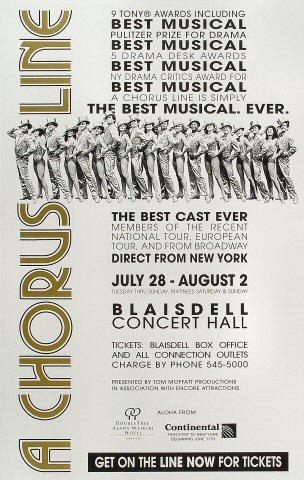 A Chorus Line Poster