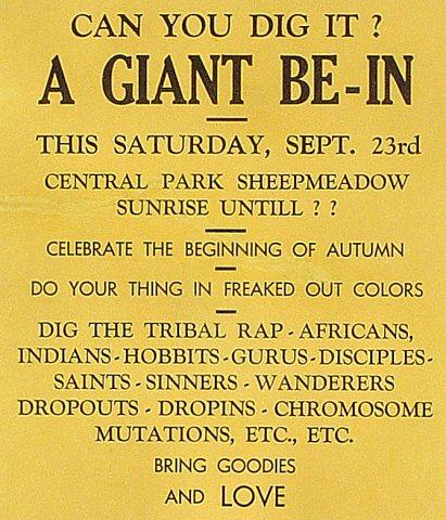 A Giant Be-In Handbill
