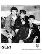 A-Ha Promo Print