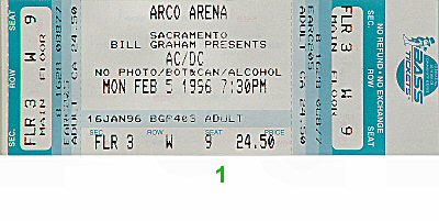 AC/DC1990s Ticket