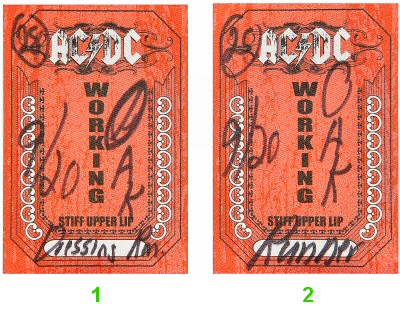AC/DCBackstage Pass