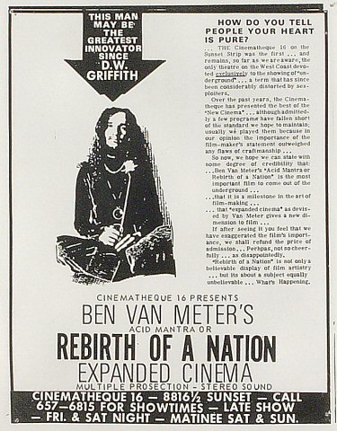 Acid Mantra or Rebirth of a Nation Handbill