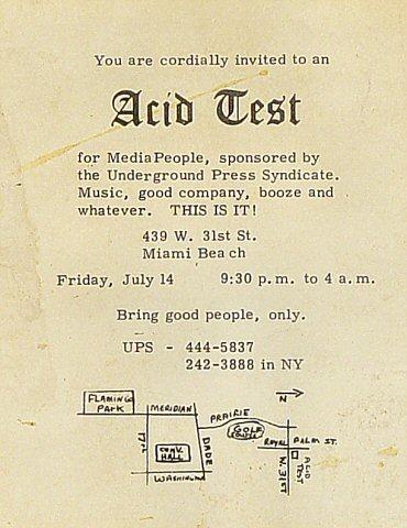 Acid Test Handbill