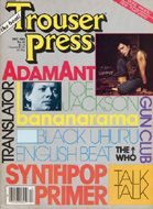 Adam Ant Trouser Press Magazine