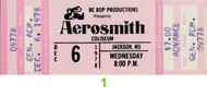 Aerosmith 1970s Ticket