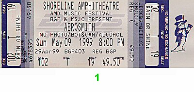 Aerosmith1990s Ticket