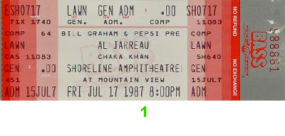 Al Jarreau 1980s Ticket