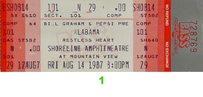 Alabama1980s Ticket
