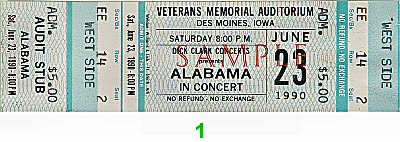 Alabama 1990s Ticket