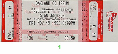 Alan Jackson1990s Ticket