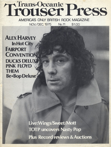 Alex Harvey Trouser Press Magazine