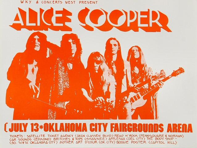 Alice Cooper Handbill