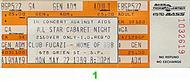 All Star Cabaret Night 1980s Ticket