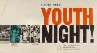 Aloha Week Youth Night Poster
