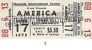 America 1970s Ticket