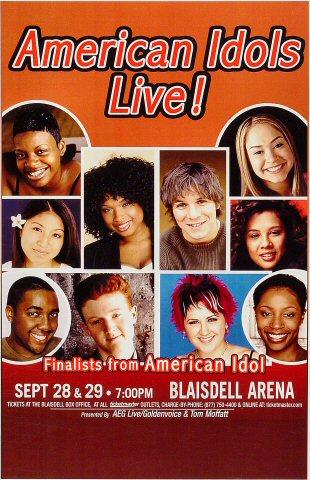 American Idols Live Poster