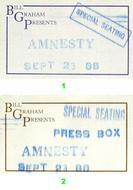 Amnesty International Benefit Backstage Pass