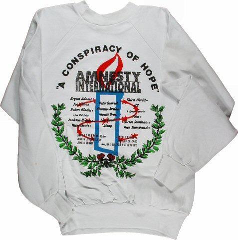 Amnesty International Benefit Men's Vintage Sweatshirts