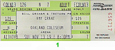 Amy Grant 1980s Ticket
