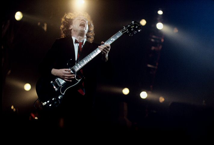 Angus Young BG Archives Print