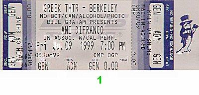 Ani DiFranco1990s Ticket