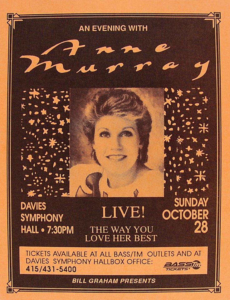 Anne Murray Handbill