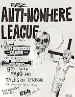 Anti-Nowhere League Handbill