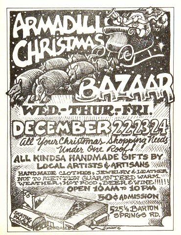 Armadillo Christmas BazaarHandbill