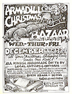 Armadillo Christmas Bazaar Handbill