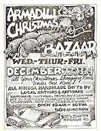 Armadillo Christmas Bazaar Handbill
