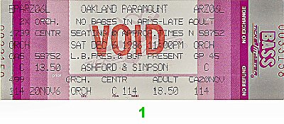 Ashford and Simpson1980s Ticket
