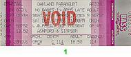 Ashford and Simpson 1980s Ticket