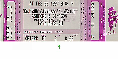 Ashford and Simpson1990s Ticket