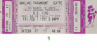 B.B. King1990s Ticket