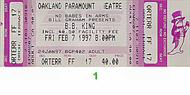 Carlos Santana 1990s Ticket