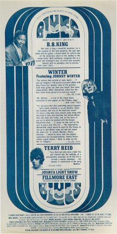Winter featuring Johnny Winter Handbill