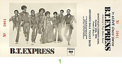 B.T. Express Vintage Ticket