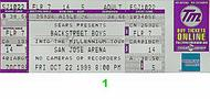 Backstreet Boys 1990s Ticket