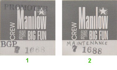 Barry Manilow Backstage Pass